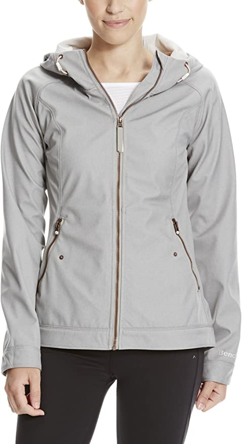 TALLA L. Bench Slim Fit Soft Shell Chaqueta para Mujer