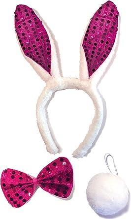 2 Pcs Cute Girls White Rabbit Ears Headband Fluffy Halloween Dress Cosplay