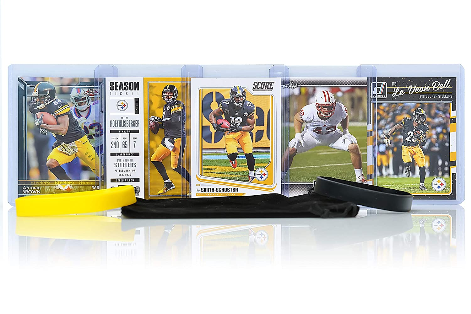 Bundle Pittsburgh Steelers Trading Cards LeVeon Bell Football Cards Assorted 5