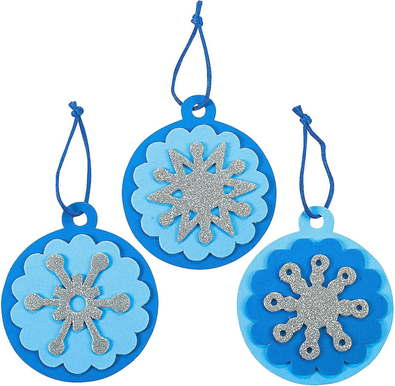 Snowflake Ornament Craft Kits Makes 24 Assorted Designs
