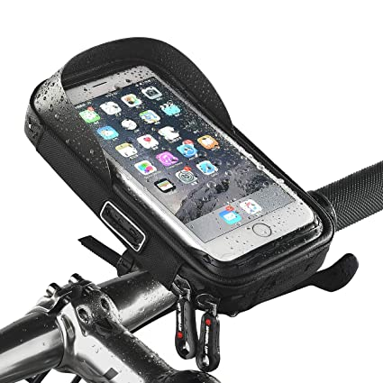 a54167a5322 Image Unavailable. Image not available for. Color  W WHEEL UP Bike Front Frame  Phone Mount Bag