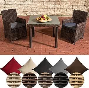 CLP - Conjunto de Mesa y sillas de jardín de Resina Trenzada ...