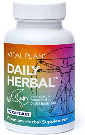 Vital Plan Daily Herbal Supplement by Dr. Bill Rawls – Herbal Immunity Booster for Immune Support, Microbiome Balance & Cell Health — Reishi Mushroom, Turmeric & Rhodiola