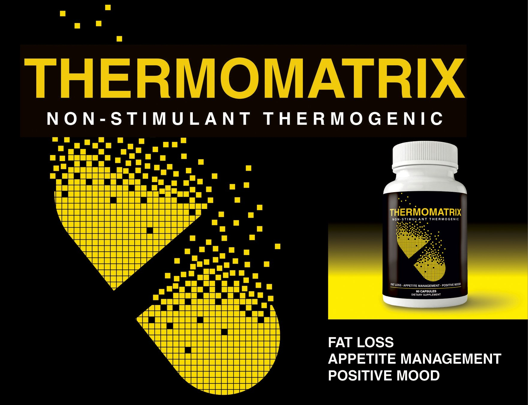 ThermoMatrix Weight Loss Pills - Diet Pills for Men and Women - Appetite Suppressant - SUPER FAT BURNER - Get BIG Results!