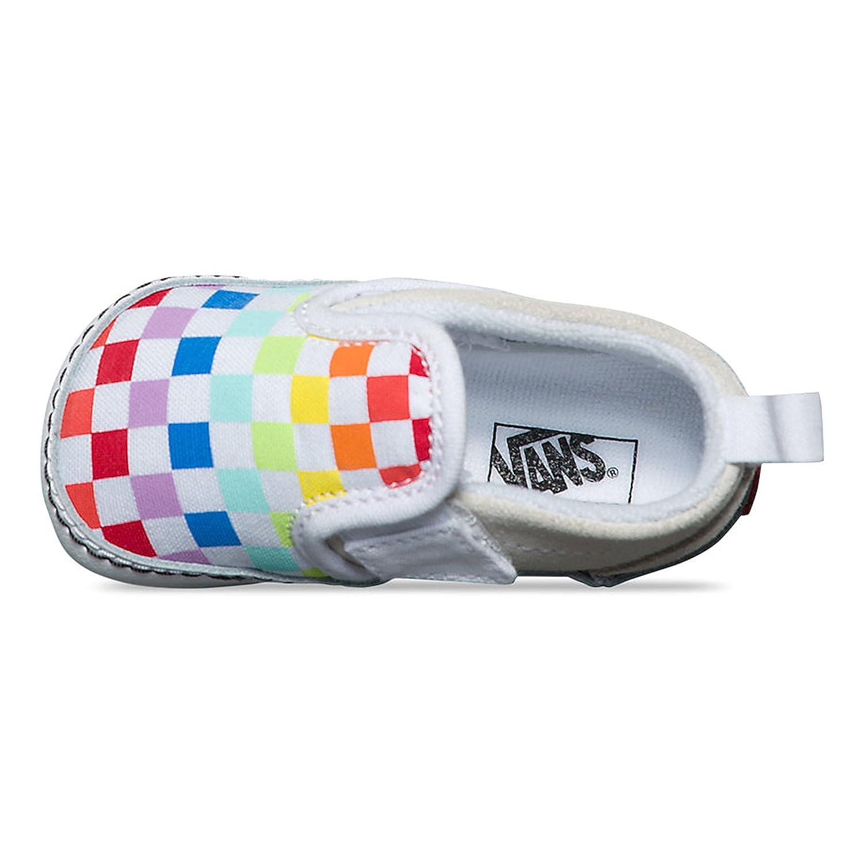 Vans Infant Slip-On V Crib (Checkerboard) Rainbow True White VN0A2XSLU09  Crib Shoes  Amazon.ca  Shoes   Handbags 0f21abf59