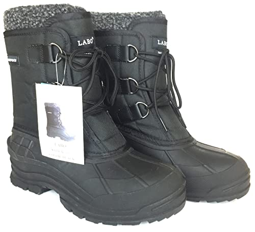 LABO Men's Winter Snow Boots Shoes Waterproof Insulated Lace UP (D,M):  Amazon.ca: Shoes & Handbags
