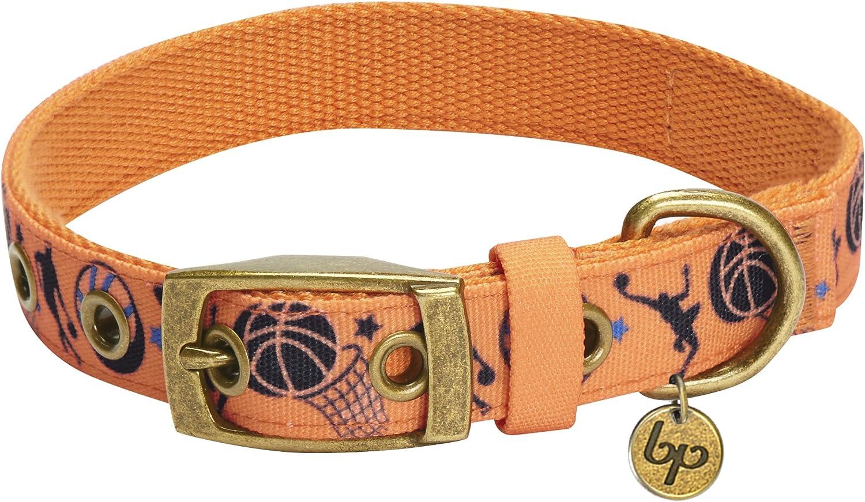 Navy Baseball BUCKLE Designer Dog Collar with leash set option