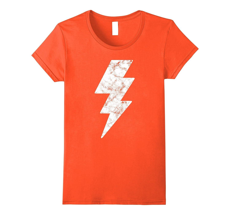 Lightning Bolt Tshirt White Design Novelty Print Tee Top