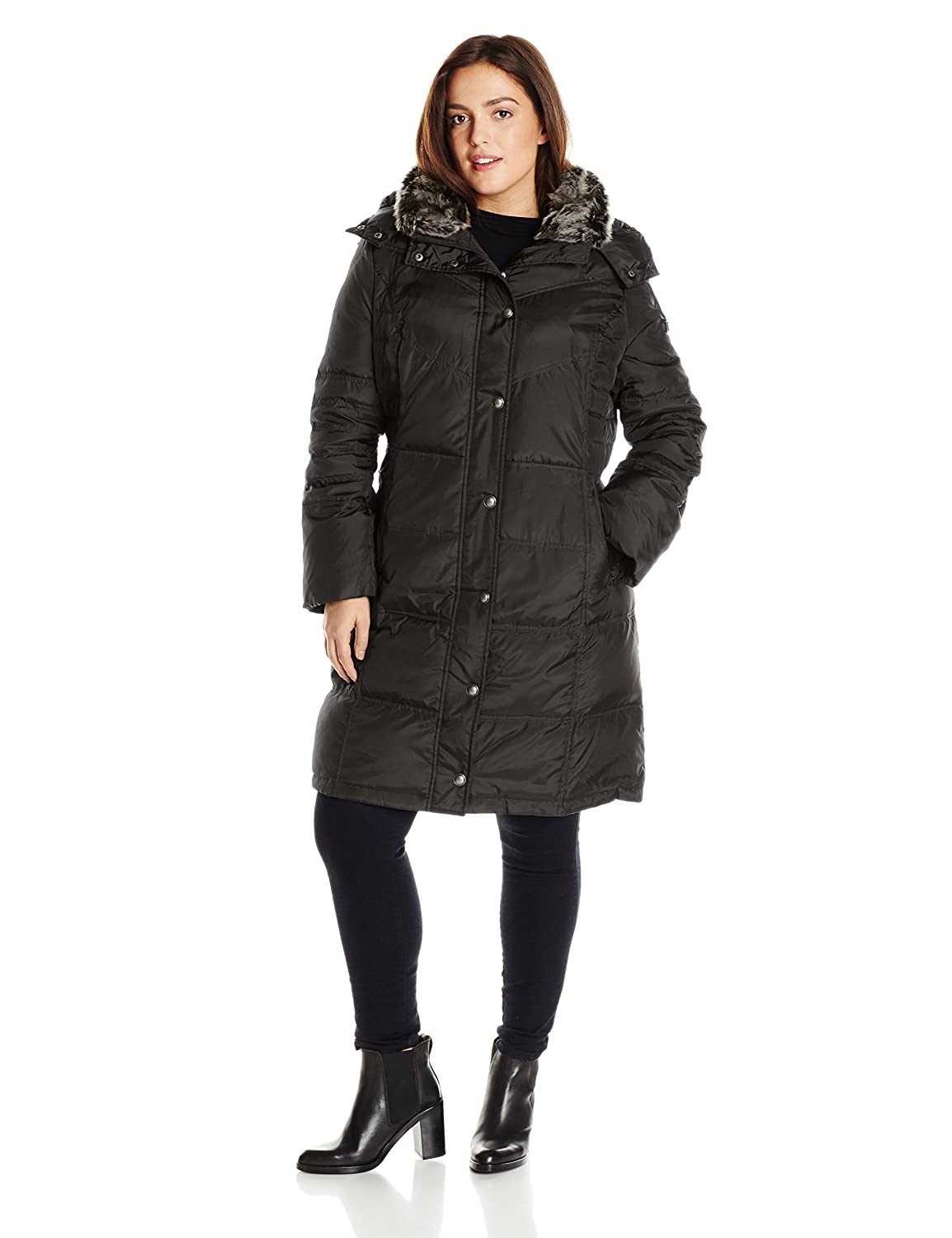 London Fog Women's Plus-Size Mid-Length Down Coat L860638L93
