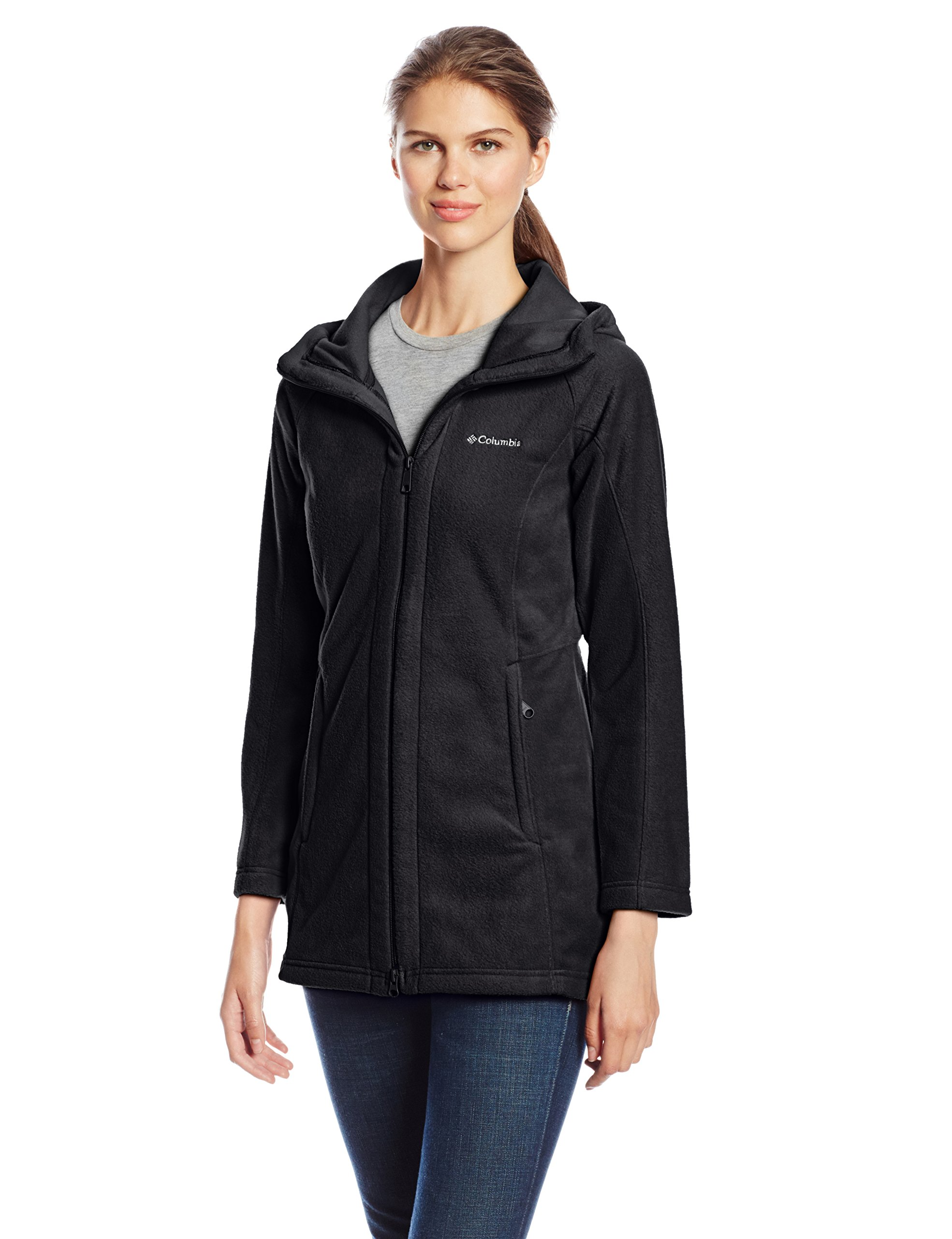 Columbia Women's Benton Springs II Long Hoodie, Black, X-Large