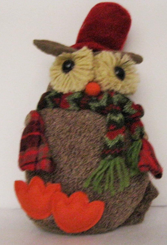And Mrs Owl Stuffed Christmas Tree Ornaments Mr