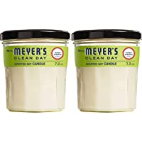 2-Pack Mrs. Meyers Clean Day Scented Soy Candle, Large Glass, 7.2 ounce (Lemon Verbena)