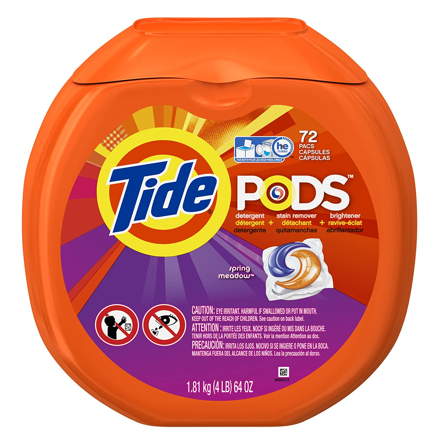 amazon com tide pods spring meadow scent laundry detergent pacs 72