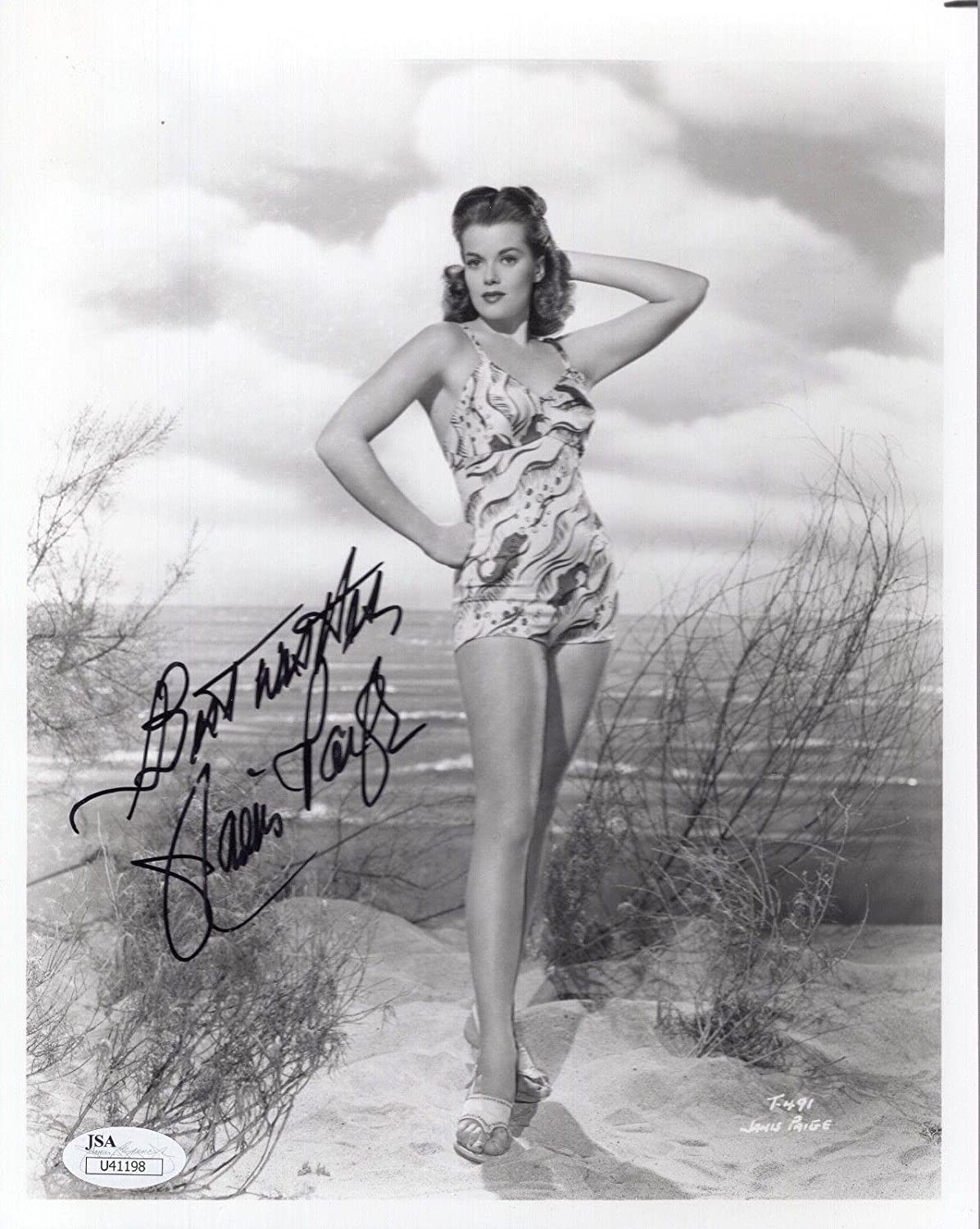 54839400e689b JANIS PAIGE HAND SIGNED 8x10 PHOTO GORGEOUS ACTRESS SEXY BIKINI POSE - JSA  Certified at Amazon s Entertainment Collectibles Store