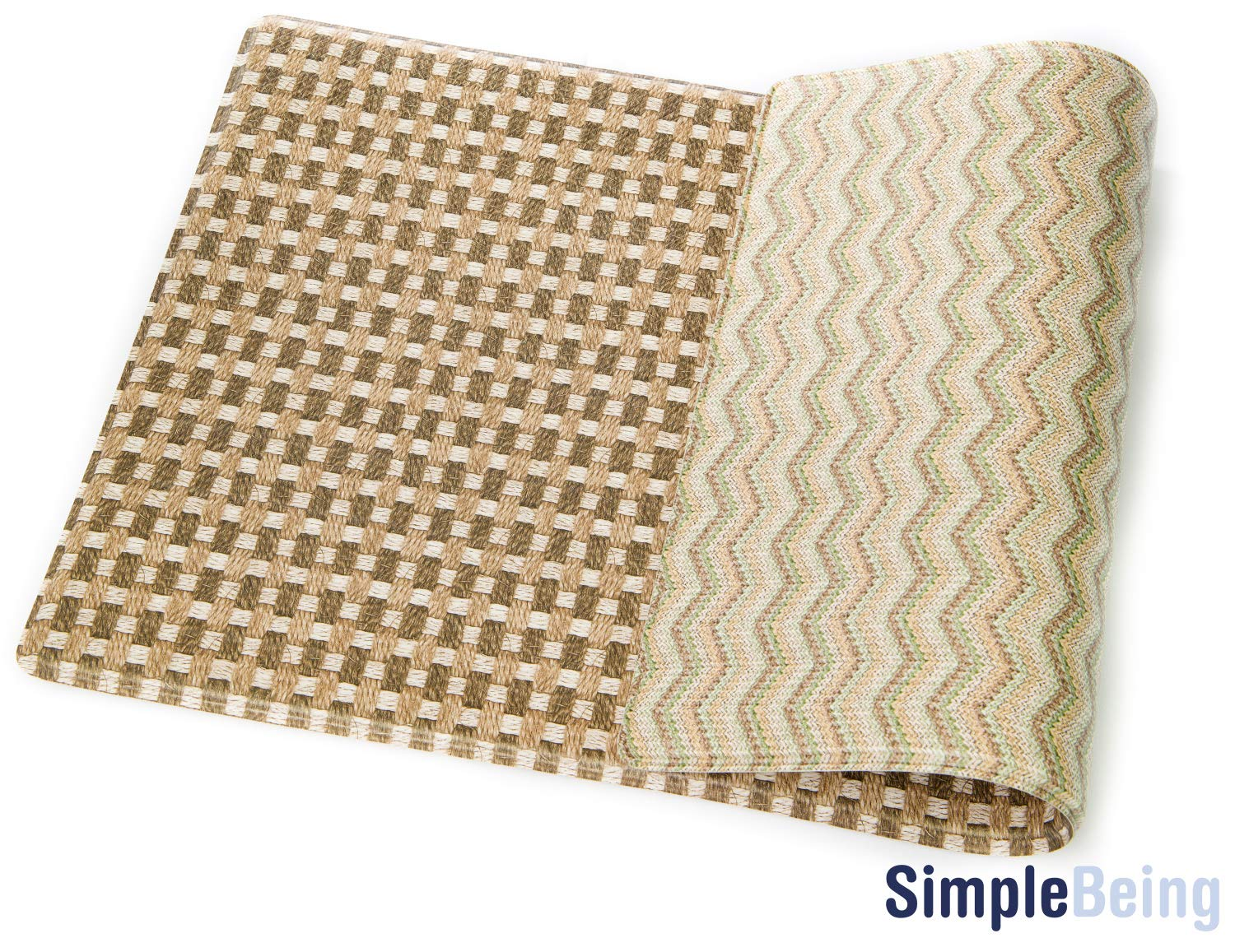 """Simple Being Anti Fatigue Kitchen Floor Mat, Comfort Heavy Duty Standing Mats, Ergonomic Non-Toxic Waterproof PVC Non Slip Washable For Indoor Outdoor Home Use (Brown Geometric, 32"""" x 17.5"""")"""