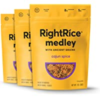 RightRice Medley - Cajun Spice (7oz. Pack of 3) - Made from Vegetables – Ancient Grains and More Veggies, Vegan, non GMO, Gluten Free
