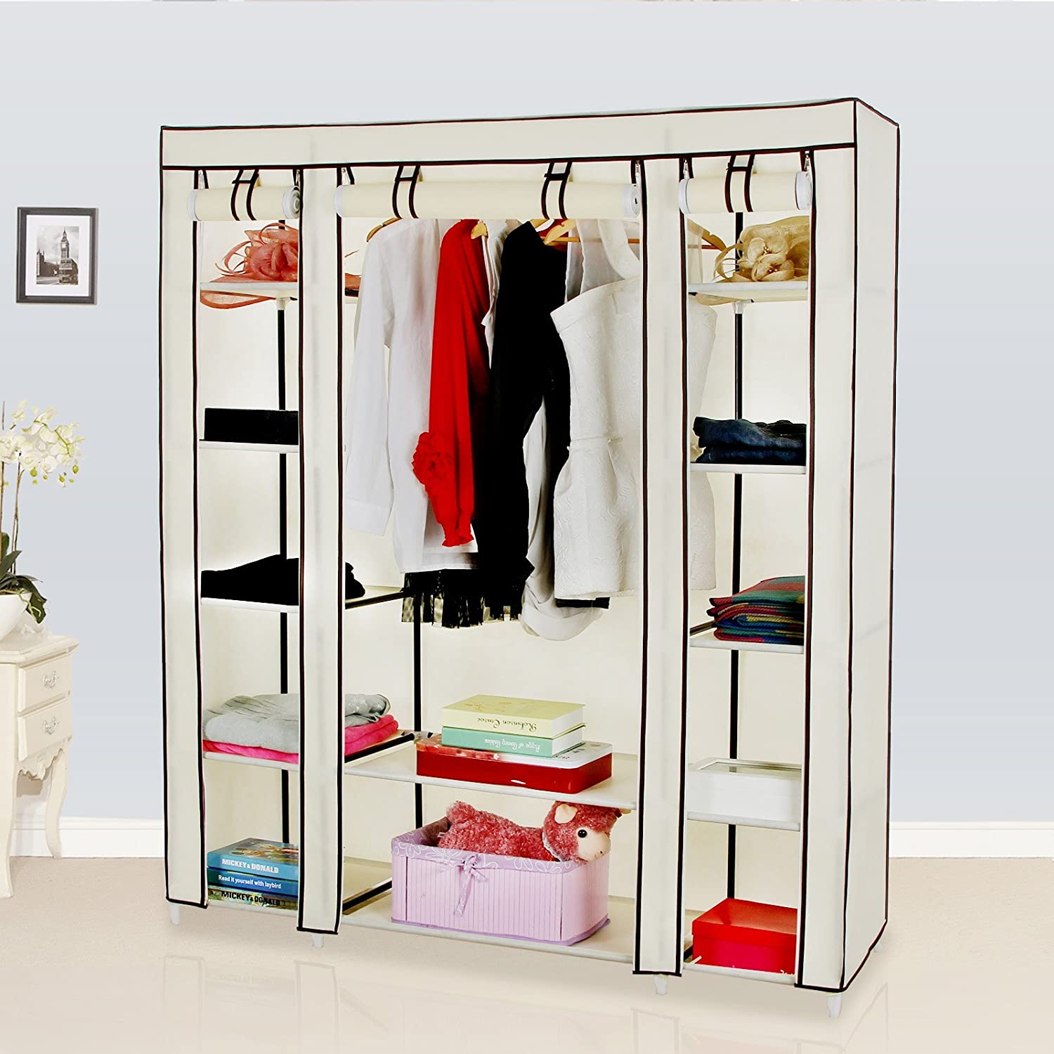 shipping bddd product garden inch closet supreme today overstock wardrobe clothes free whitmor home