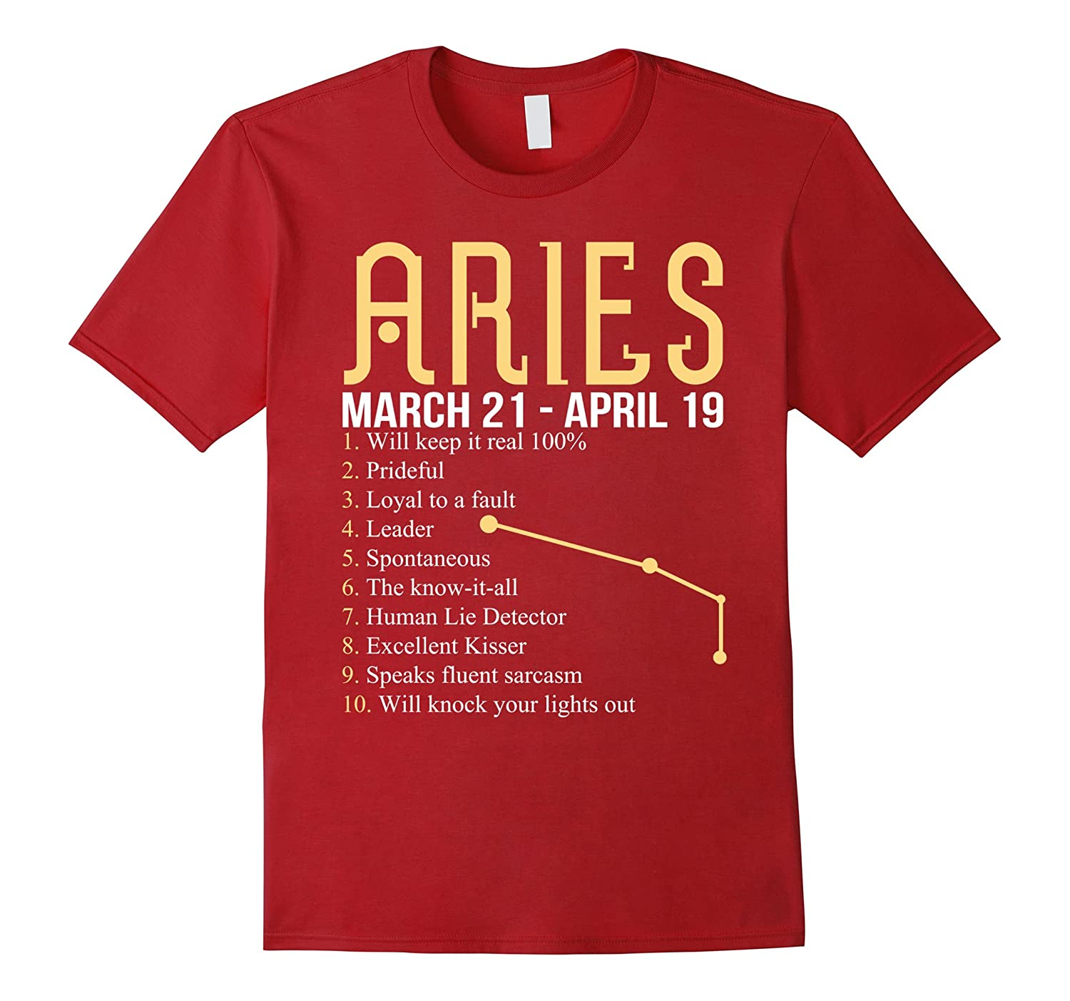 10 Things About Aries T-shirt Aries Definition-BN