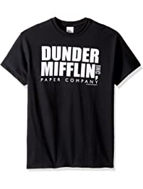 ecdc73214 T-Line Mens The Office Tv Series Dunder Mifflin Logo - Black Graphic T-