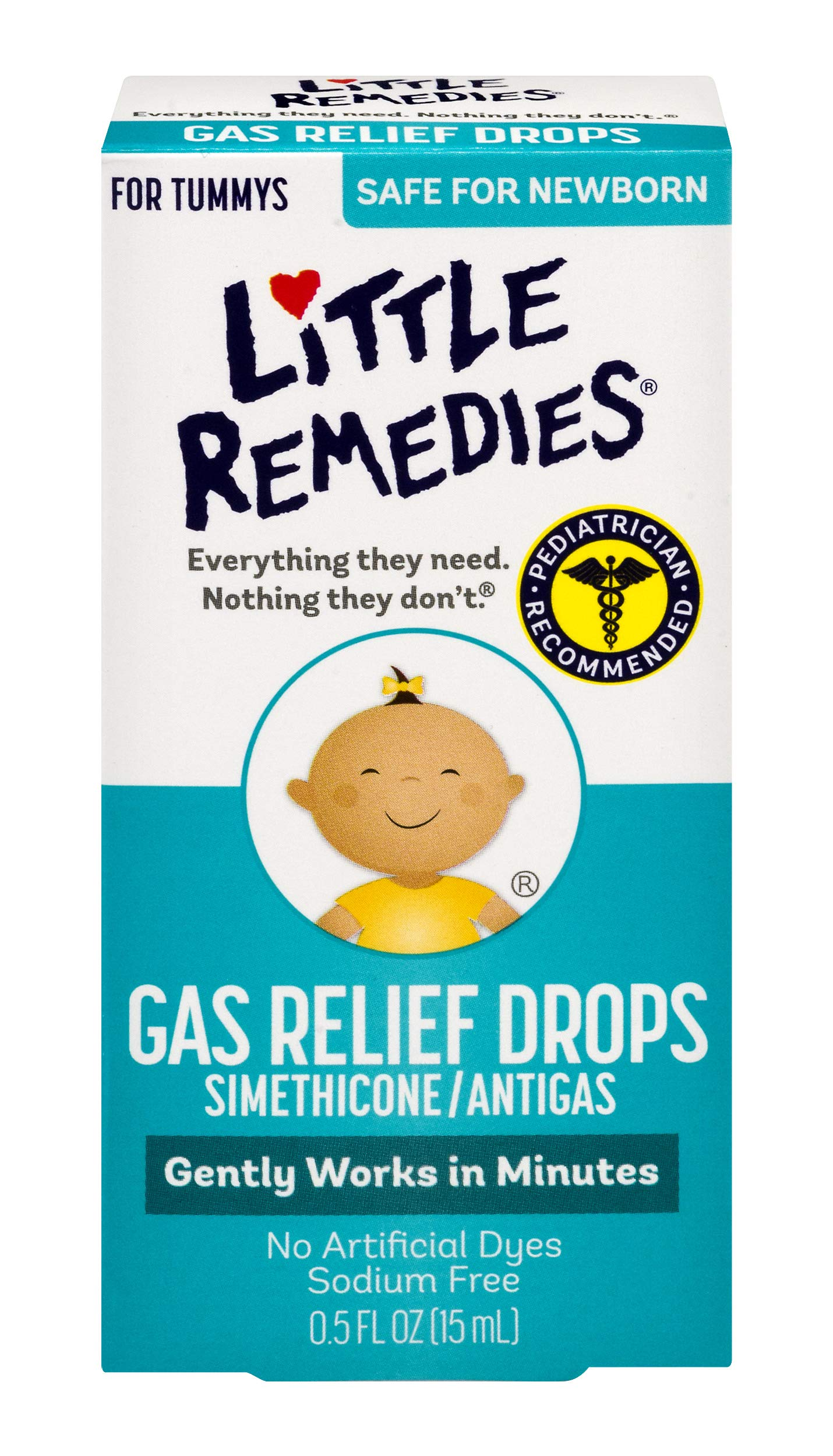 Little Remedies Baby Gas Drops, 0.5 oz