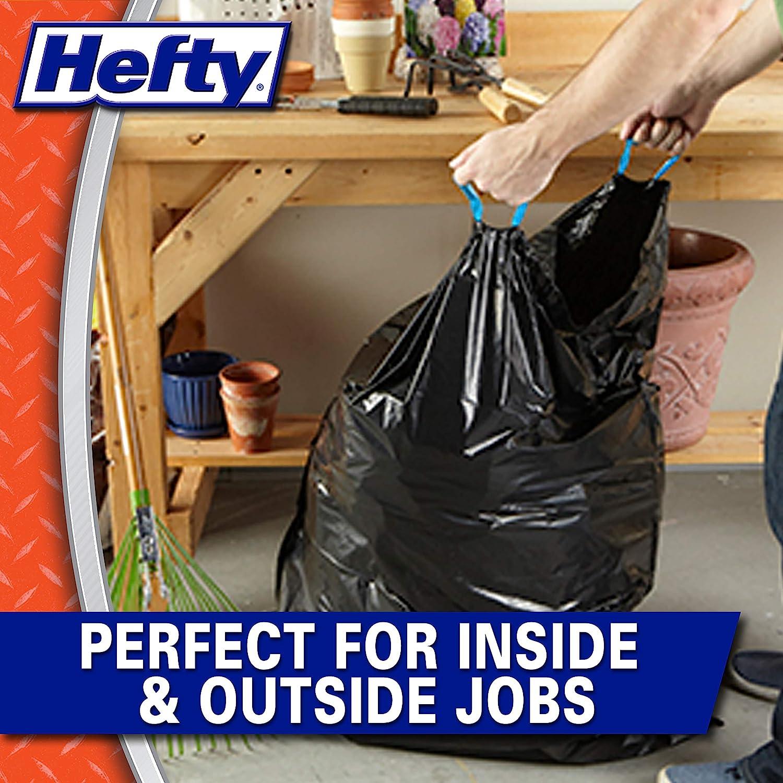 Lawn//Yard Hefty Strong Large Trash//Garbage Bags Drawstring