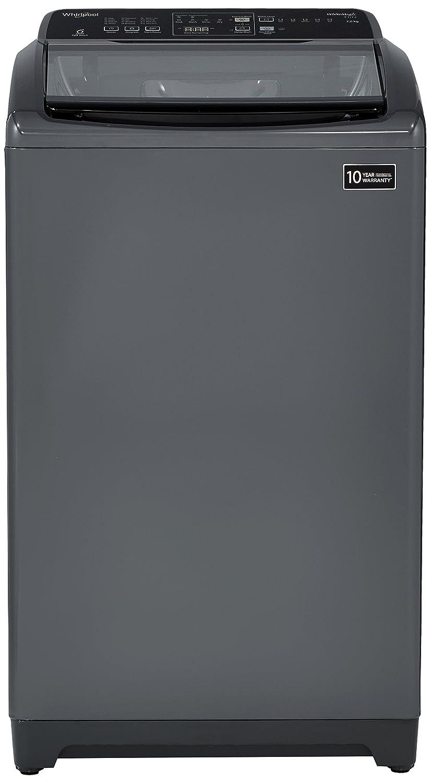 Whirlpool 7 kg Fully-Automatic Top Loading Washing Machine (WHITEMAGIC ELITE, Grey)