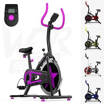 We R Sports C100 - Bicicletas estáticas y de spinning para fitness, color negro,