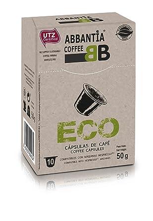 120 Cápsulas de Café Ecológico Abbantia compatibles con Nespresso