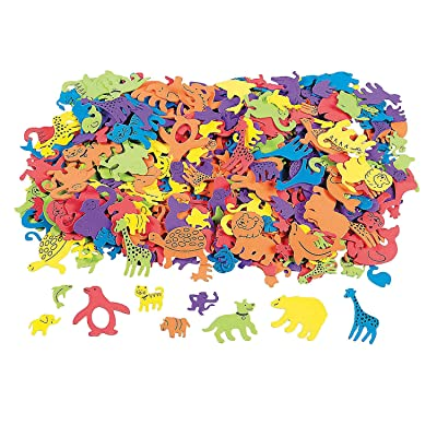 Fabulous Foam Adhesive Animal Shapes - Crafts for Kids and Fun Home Activities: Toys & Games