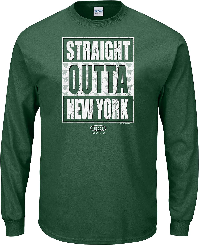 Smack Apparel New York Football Fans Straight Outta New York Forest Green T-Shirt Sm-5X