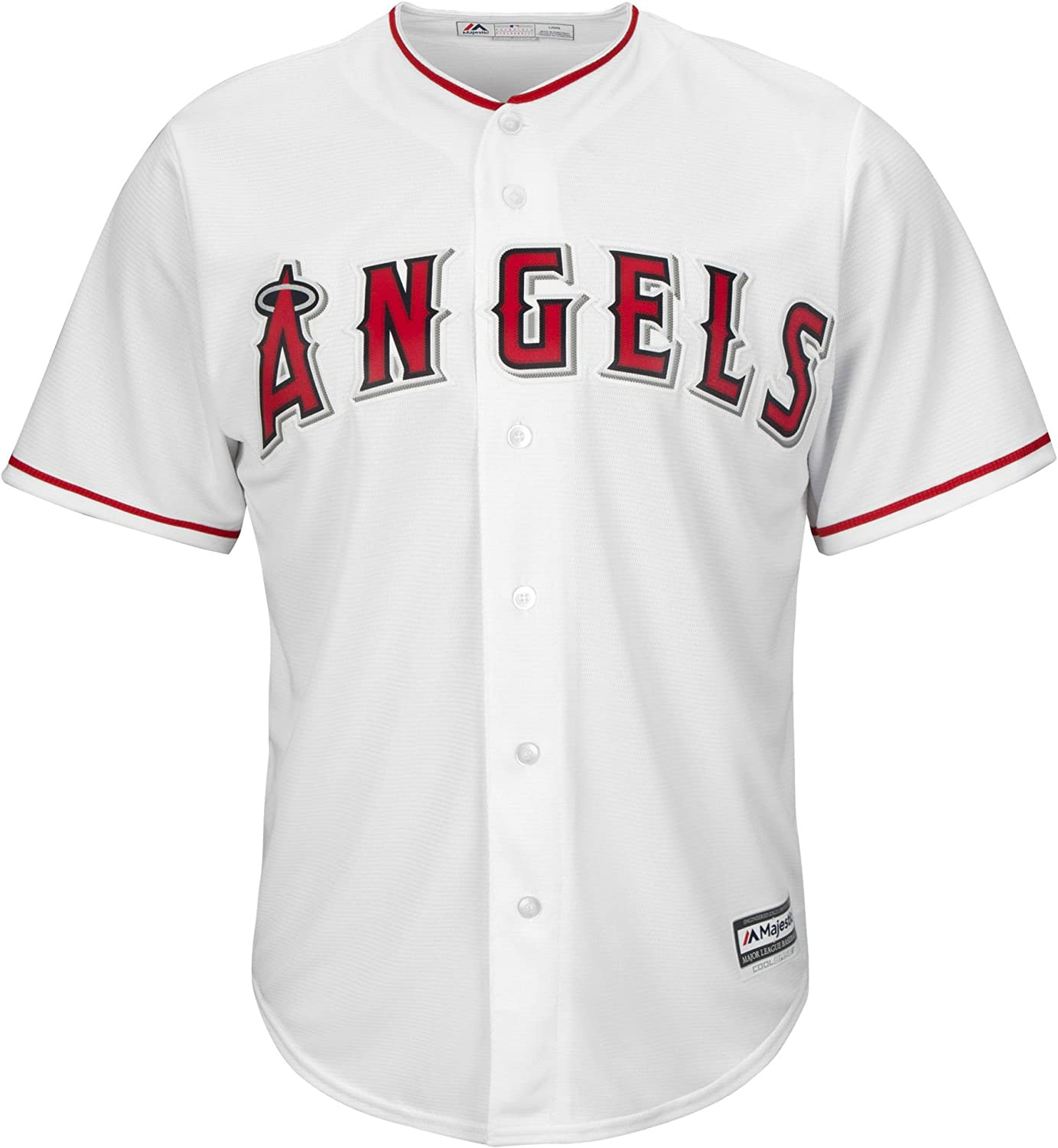 Large 14-16 Majestic Mike Trout Los Angeles Angels of Anaheim MLB Youth White Home Cool Base Replica Player Jersey