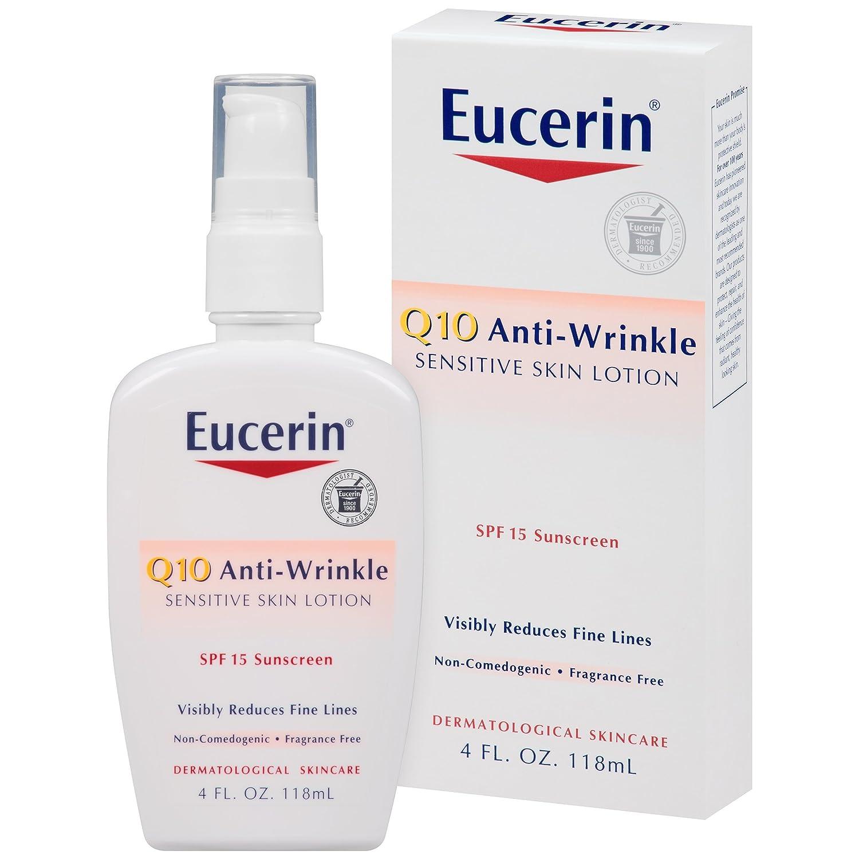 Eucerin Q10 Anti-Wrinkle Sensitive Skin Lotion 4 Fluid Ounce BEIERSDORF618116