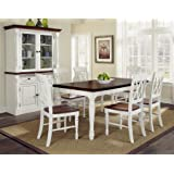 Home Styles 5020-309 Monarch Rectangular Dining Table and Six Double X-Back Chair