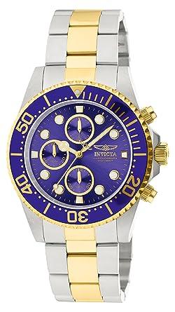 5d8f2a639355 Amazon.com  Invicta Men s 1773 Pro Diver 18k Gold Ion-Plating and ...