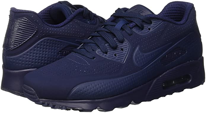hot sale online eeb4a cd3e3 Amazon.com   Nike air max 90 Ultra Moire Mens Trainers 819477 Sneakers Shoes  (US 8, Midnight Navy White 400)   Fashion Sneakers