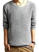 (h)ache&wai ラウンドネック 長袖 セーター メンズ シンプル ニット
