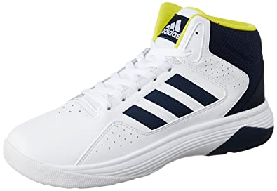 outlet store f52be 1f30b adidas neo Mens Cloudfoam Ilation Mid Ftwwht, Conavy and Byello Leather  Sneakers - 7 UK