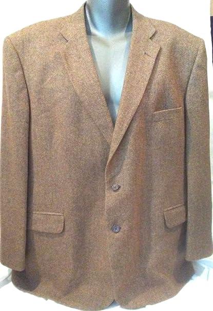 Amazon Com Size 52 Men S Brown Tweed Wool Sport Coat Stafford