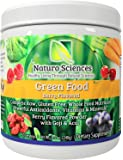 Greens Powder Complete Raw Whole Green Food Nutrition Plus Spirulina, Super Antioxidants, Vitamins, Minerals Amazing Berry Flavor 8.5oz (240g) 30 Servings