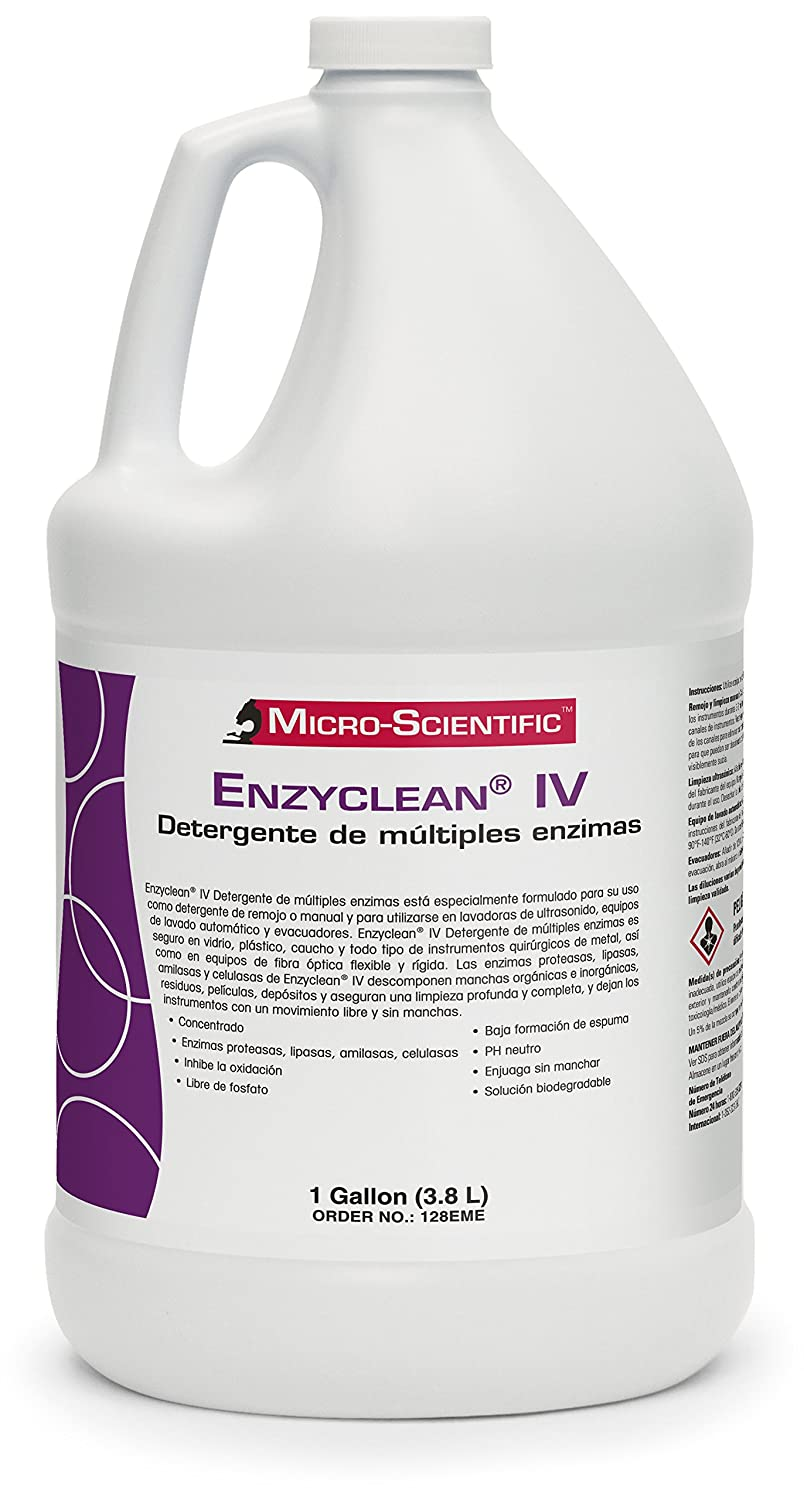 Micro-Scientific 128EME Enzyclean IV Multiple Enzyme Detergent for ...