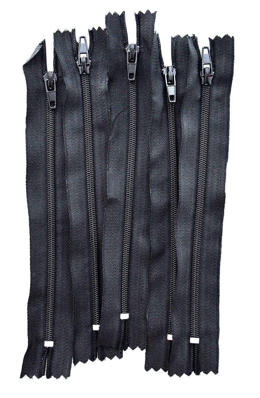 LEDUC Nylon Cremalleras 15/cm pl/ástico Negro 5/Piezas
