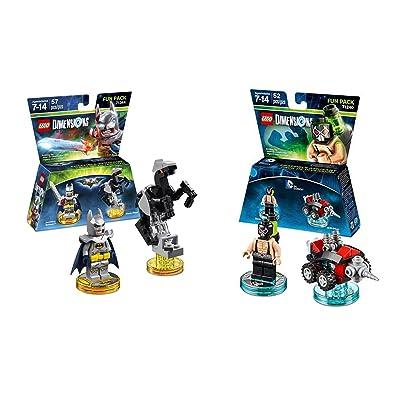 Lego Dimensions Bundle of 2 - Excalibur Batman + Bionic Steed Fun Pack (71344) and DC Bane Fun Pack (71240): Video Games