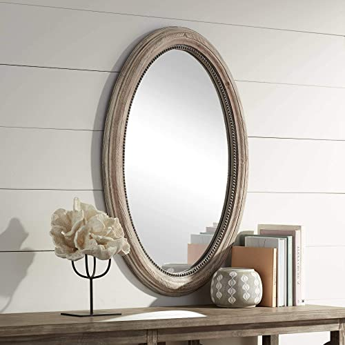 Noble Park Zahra Wooden 23 1 2 x 34 Oval Wall Mirror