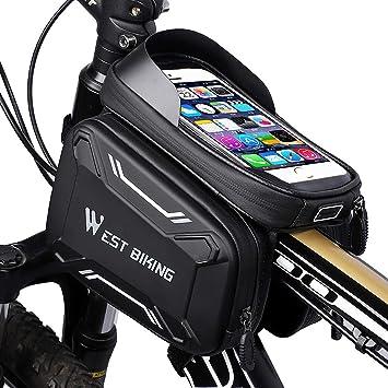 WESTGIRL - Bolsa para Bicicleta con Soporte para teléfono móvil ...