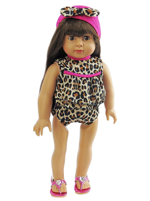 """LEOPARD BIKINI BATHING SUIT FITS AMERICAN GIRL DOLL 18/"""""""