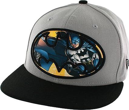 63fa9ff480f Amazon.com  Batman Sublimated Action Logo Men s 59FIFTY Flex-Fit ...