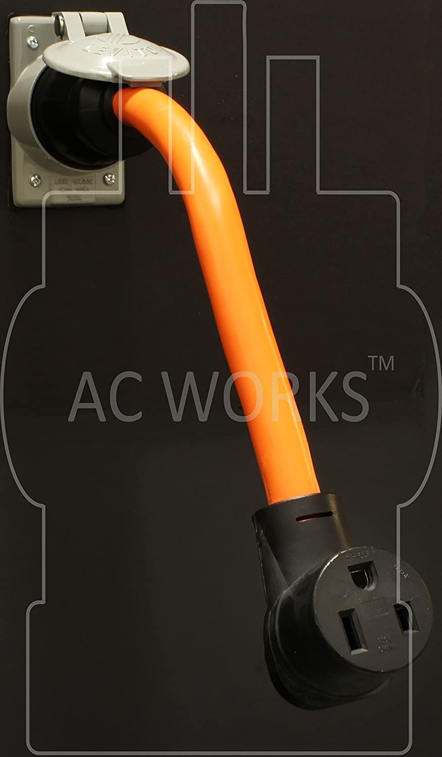 Ac Works 6 50 Welder Adapter Cs6365 Ss2 50a 4 Wires Locking To Hobart Power Plug 230 Volt Male Plugpin Type Amps Model