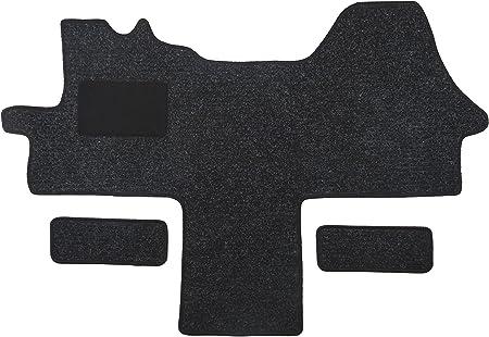 Alpha Tex Fußmatte 1614 Autoteppich 1 Tlg 2 Einstiege In Qualität Robust Anthrazit Umrandung Schwarz Auto