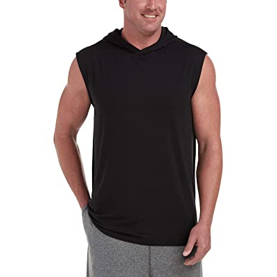 Essentials Men's Big & Tall Tech Stretch Sleeveless Pullover Hoodie fit by DXL: Clothing