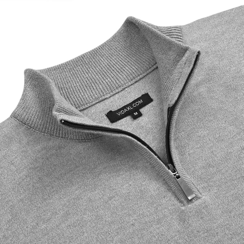 vidaXL Jersey de hombre cuello pico azul marino/gris/negro/beige M-XL jn163uOh7